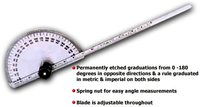Degree Protractor-Cum-Depth Gauge