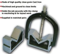 C. I. Vee Blocks with Clamp