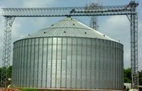 Galvanized Flat Bottom Silos
