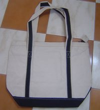 Black And White Canvas Bag