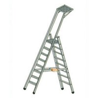 Double Platform Stool Ladder