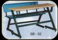 Wrought Iron School Bench