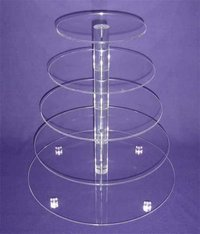Transparent Round Wedding/Party Favour Acrylic Cupcake Stands