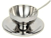 Stainless Steel Designer Cup Plate