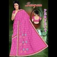 Perfect Pink Embroidered Saree