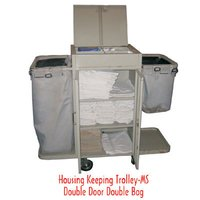 Double Door Housekeeping Trolley