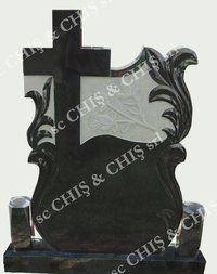 Black Granite Memorial Tombstone