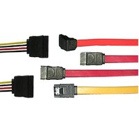 SATA/Serial ATA Cable Converter with Straight and Right Angle Cable Exits
