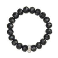 Thomas Sabo Charm Club Obsidian Bead Bracelet - 17.5cm