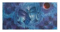 Acrylic Radha Krisha Paintings on Canvas