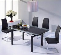 Modern Glass Extending Dining Table