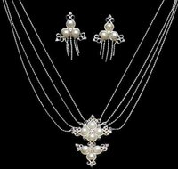 Designer Silver Necklace Set