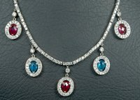 CZ Diamond Gemstone Necklace
