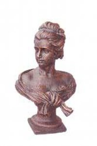 Cast Iron Bust Statue