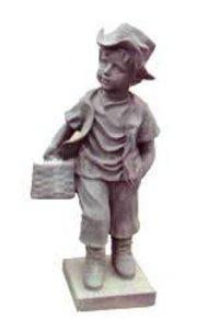 Cast Iron Children Statue