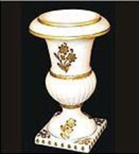 Marble Gold Painted Flower Vase