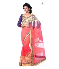 Party Wear Pink-Yellow Saree