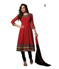 Party Wear Red Anarkali Suit