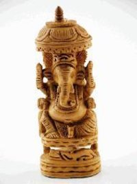 Wooden Ganesh Statue