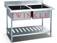 With Under Shelf Double Sink Bench (2 Sink) HSB-612DU