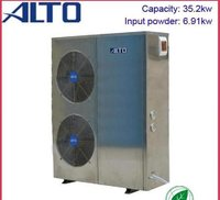 High Efficiency Heat Pump Pool Heater (35.2kw, Stainless Steel Cabinet)