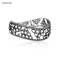 14k Gold Pave Diamond Sleek Wedding Designer Bangle