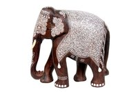 Wooden Inlaid Elephant Big Size