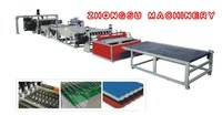 PVC Plastic Hollow Cross Section Plate Extrusion Line