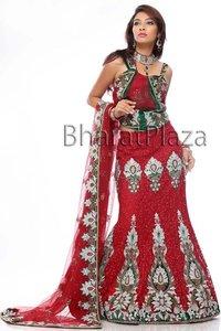 Resham Embroidery Bridal Lehenga