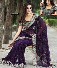 Heavy Work Border Sari