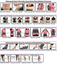Cervical Collars, Abdominal Belts, Traction Kits, Finger Splints, Wrist Braces
