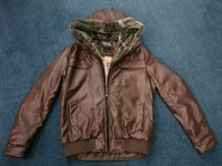 Mens Fur Washed PU Leather Jackets