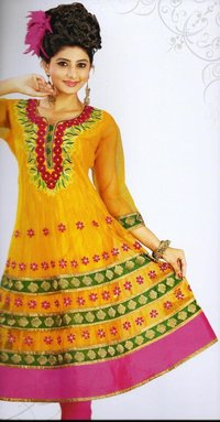 Embroidered Kurti With Long Sleeves