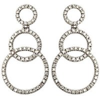 Diamond Hoops Gold Earrings