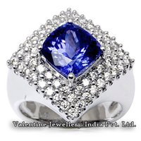 Diamond Tanzanite Rings