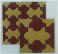Double Colour Flower Chequered Tiles