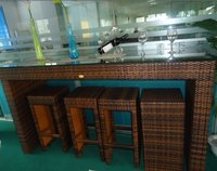 Popular Rattan Bar Table And Bar Stool