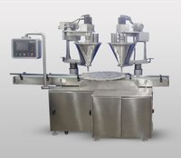 Automatic Twin Head Powder Filling Machine With Servo
