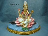 Polyresin Hindu God Statue (Saraswati)
