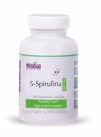 Zenith Nutritions 5-Spirulina 500mg - 100 Capsules