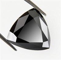 9.07 CTS Natural Trillion Cut Black Diamond Stone - AAA Deluxe