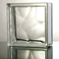 Clear Cloudy Glass Block