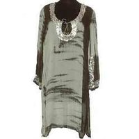 Ladies Hand Tie Dyed Georgette Fabric Dress