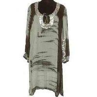 Ladies Hand Tie Dyed Georgette Fabric Dress