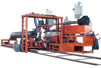 Steel Reinforced Polyethelene Spiral Corrugated Pipe Production Line