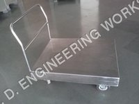 Stainless Steel Wheeled Platform Trolley