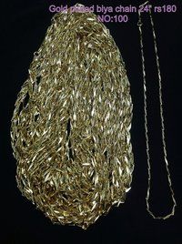 Gold Plated Biya Chain