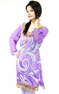 Purple Printed Kurtis