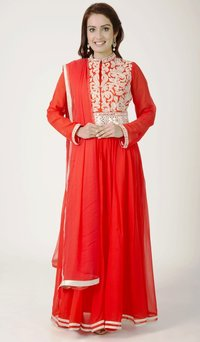 Designer Corel Color Anarkali Suit