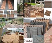 Wood Plastic Composite Decking Tiles (Tkw 006)